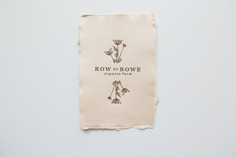Branding & Print Collateral: Row by Rowe Farm