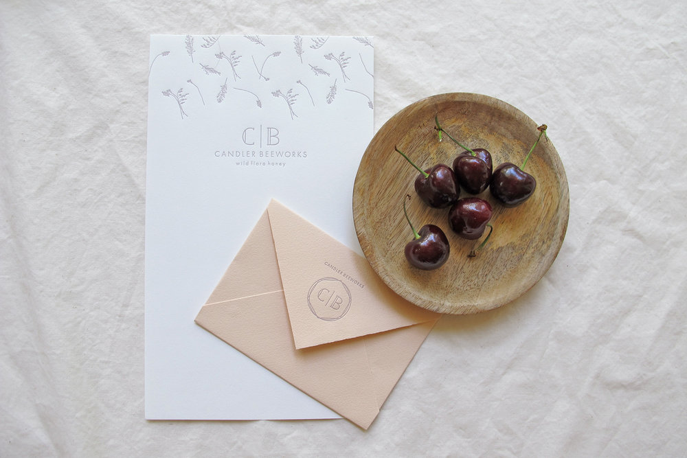 Branding & Letterpress Collateral: Candler Beeworks