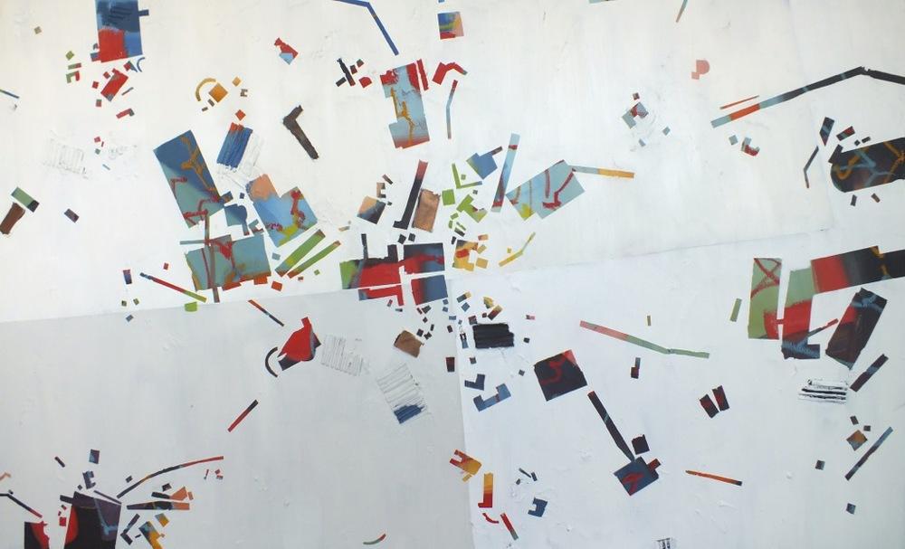 """No. 23, mixed media on canvas, 36""""x60"""", 2014"""