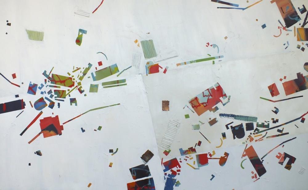 """No. 24, mixed media on canvas, 36""""x60"""", 2014"""