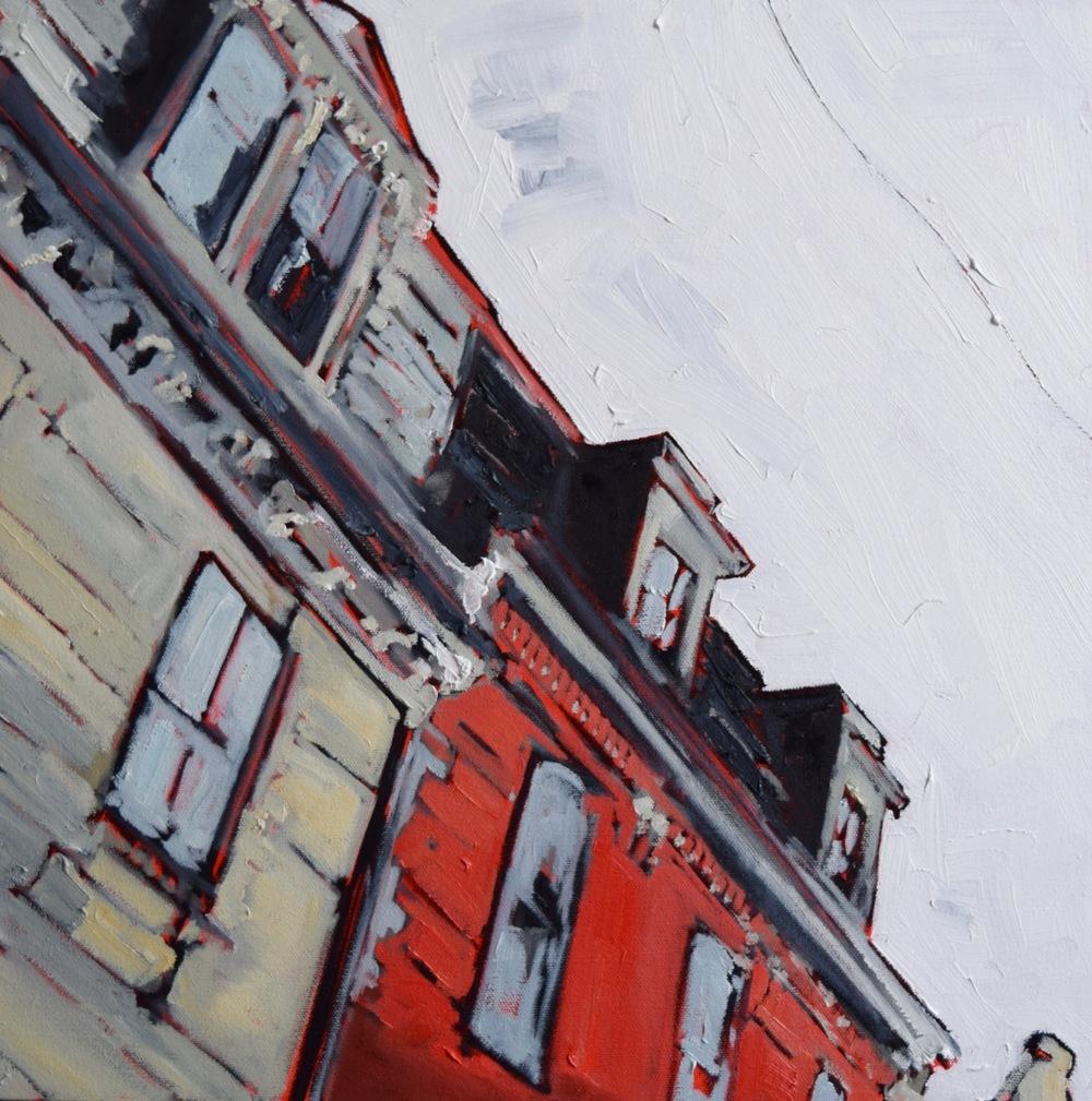 """Barrington, oil on canvas, 16""""x16"""", 2016"""