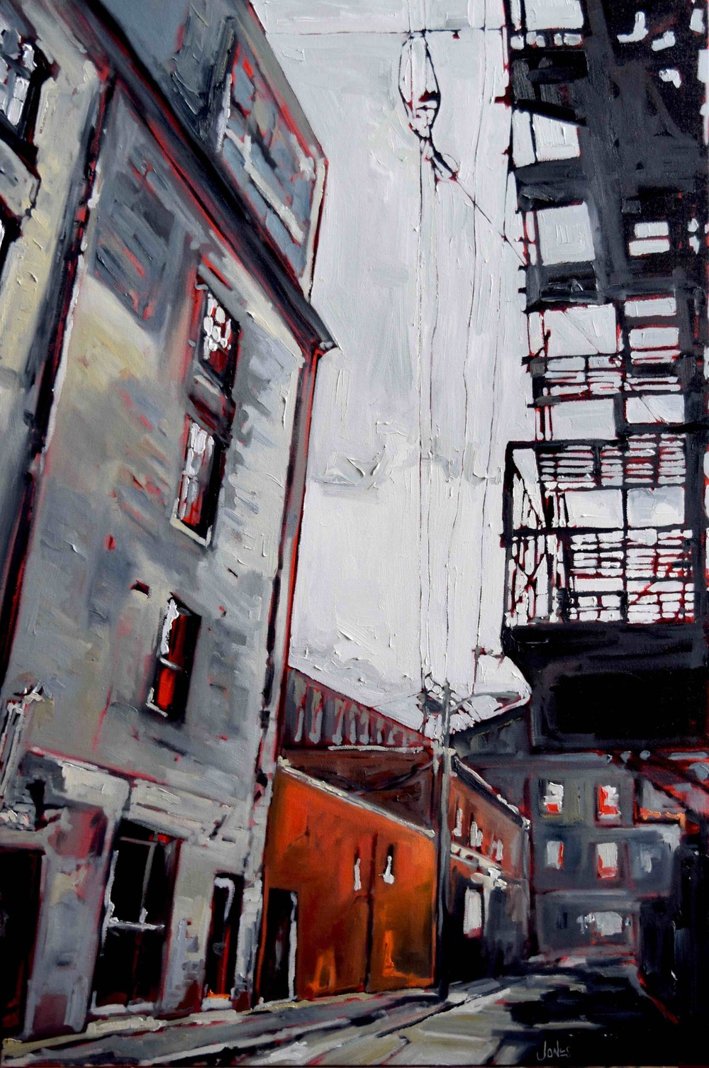 "Portland: Gold Street II ,S. Jones, oil on canvas, 36""x24"", 2016"