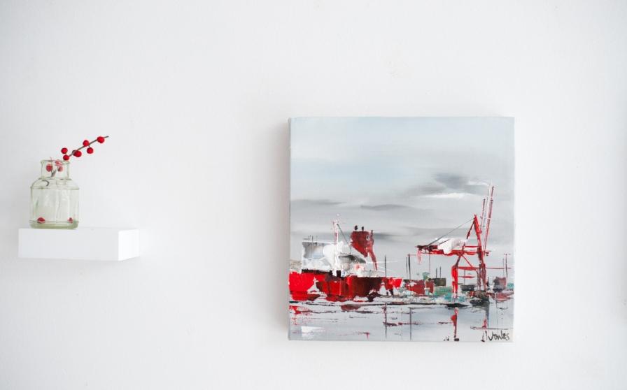 """Cranes No. 8, 9""""x9"""", $295"""