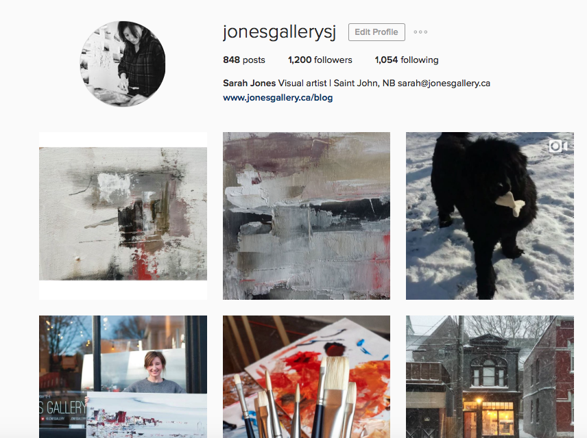 My current Instagram profile. I guess I do look kind of glower-y.