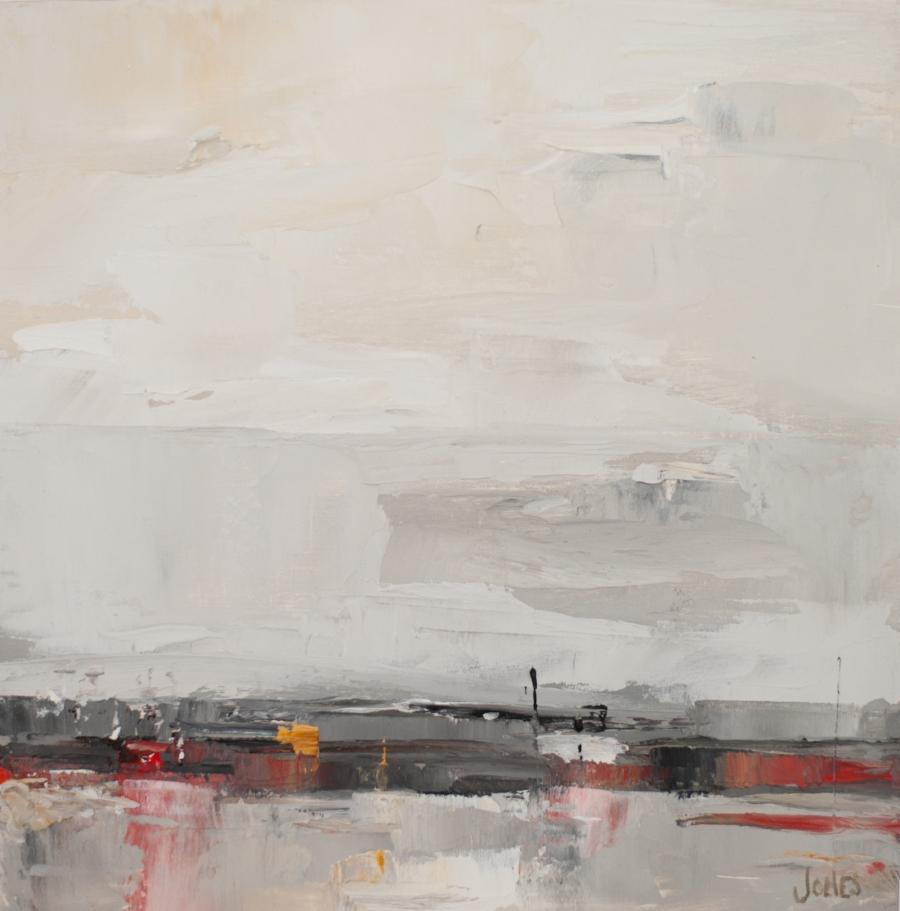"Sarah Jones,  Our Industrial Landscape II (a)   Oil on canvas, 10""x10"", 2017"