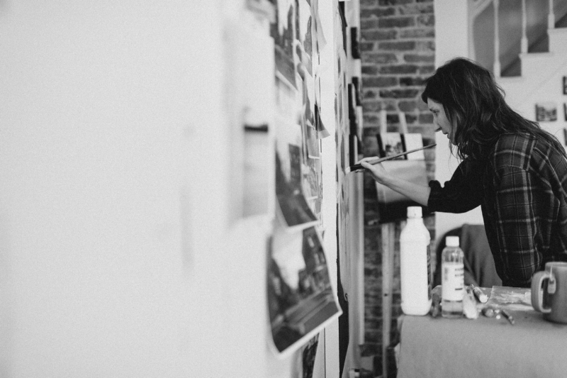 The days of the open studio. Photo by Sean McGrath.