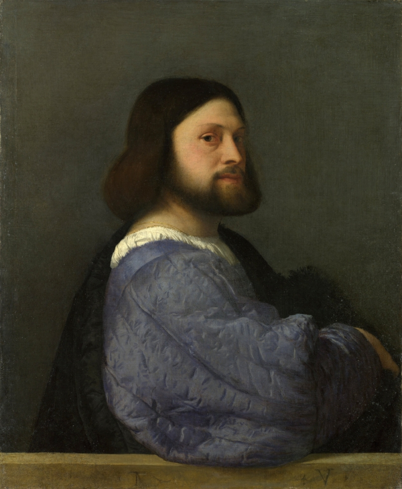 Titian,  Man with a Quilted Sleeve