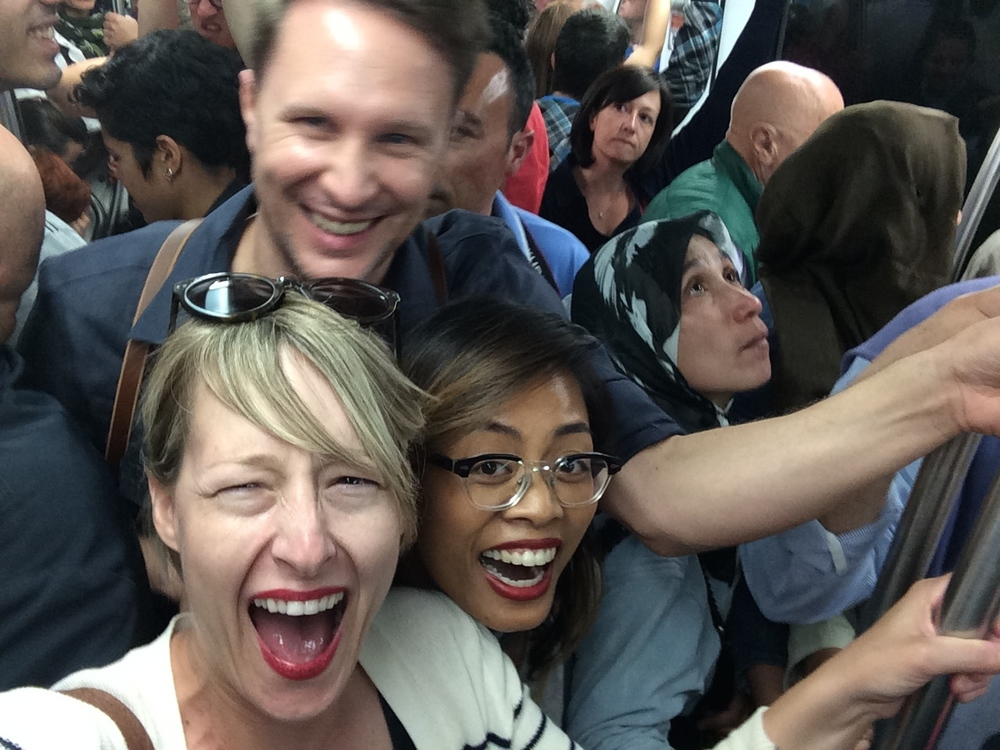 Crowded subways. FUN!