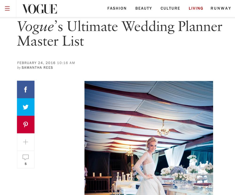 Best Wedding Planner In The World List By Vogue