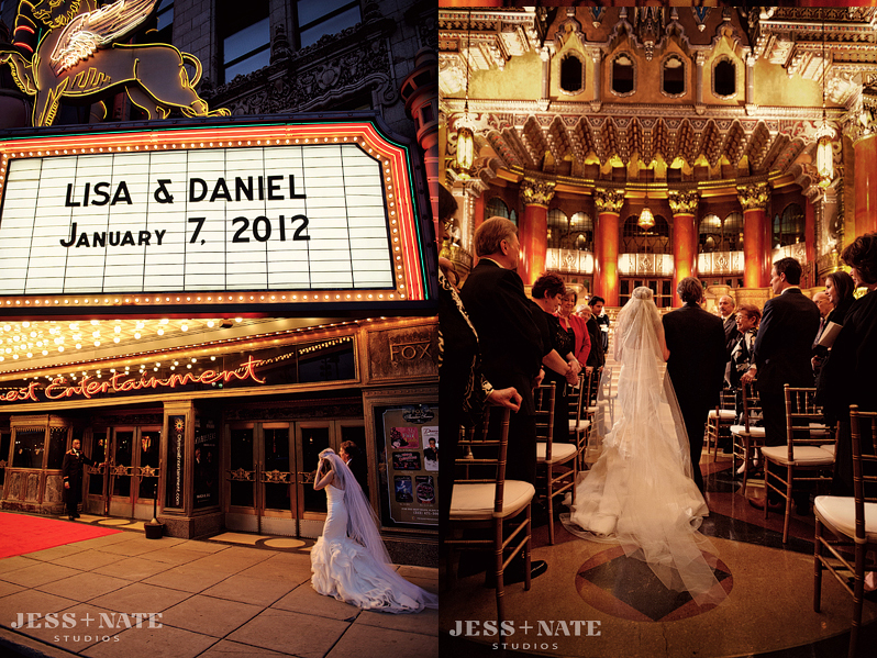 fox theater wedding 4