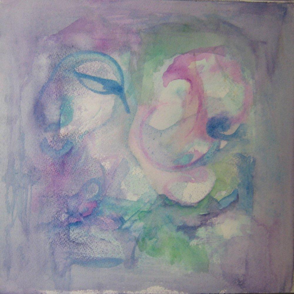 "Dreaming, Watercolor, 10""X10"", 2012"