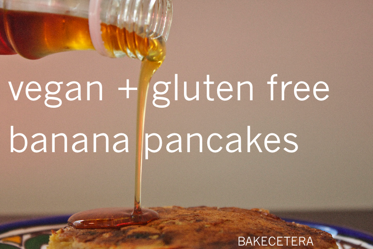 vegan and gluten free banana pancakes
