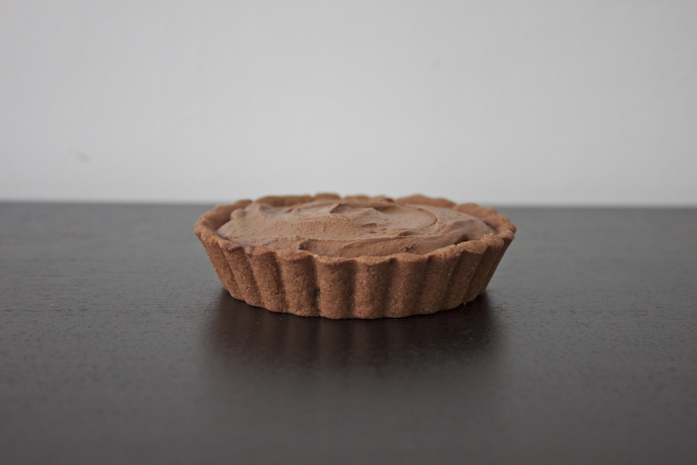 vegan chickpea tofu chocolate mousse tart
