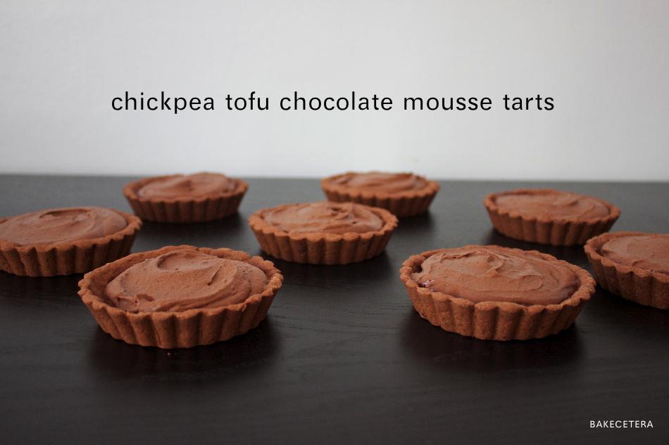 chickpea tofu chocolate tarts