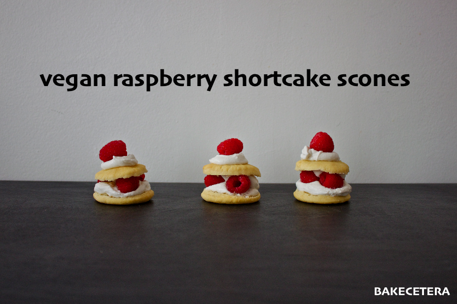 vegan raspberry shortcake scones