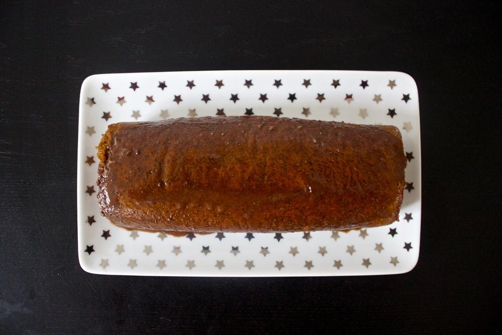 vegan chocolate-coffee pumpkin roll