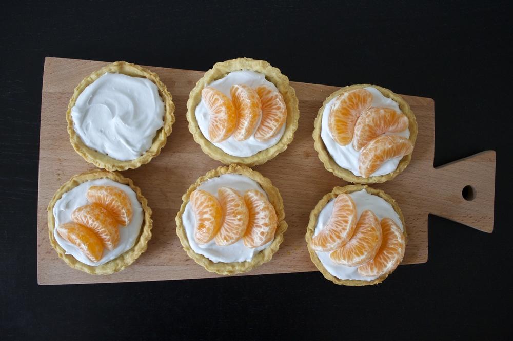 vegan clementine tart