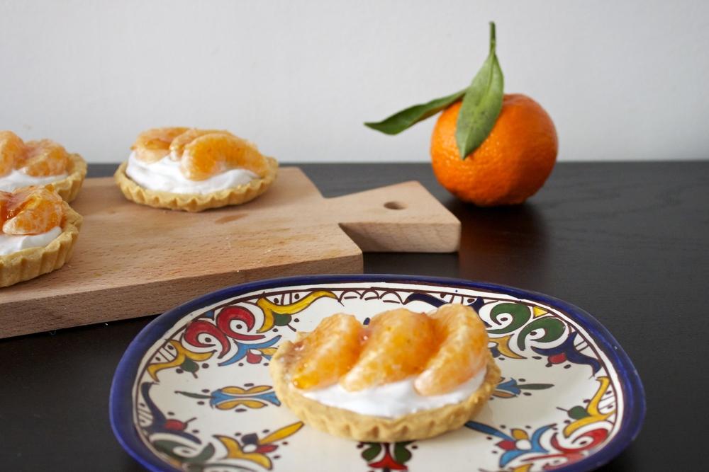 vegan clementine tarts