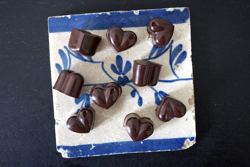 vegan sweet potato caramel chocolate hearts