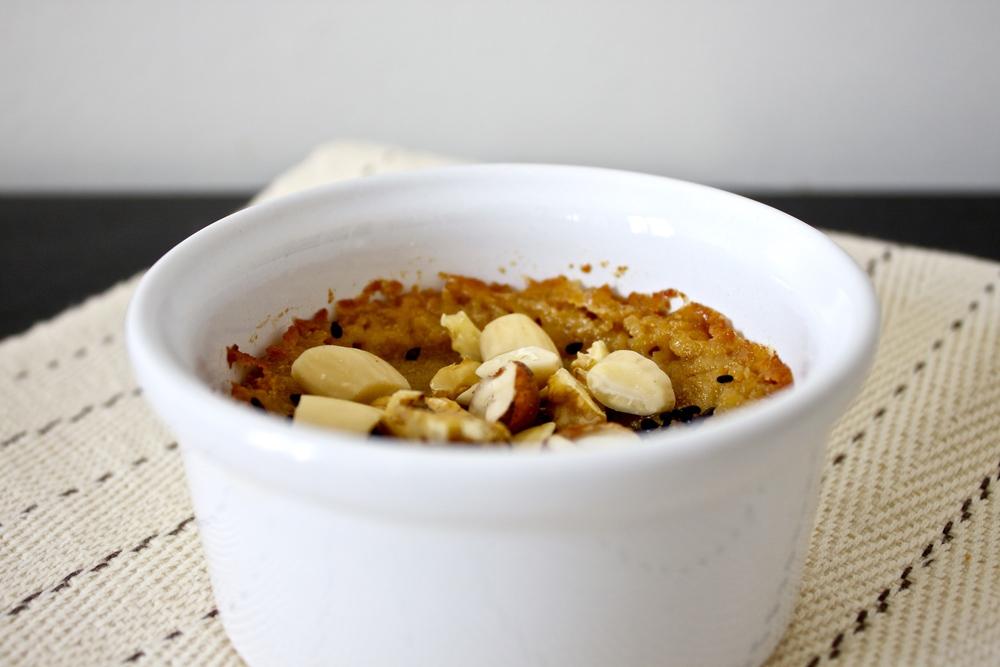 vegan baked halva