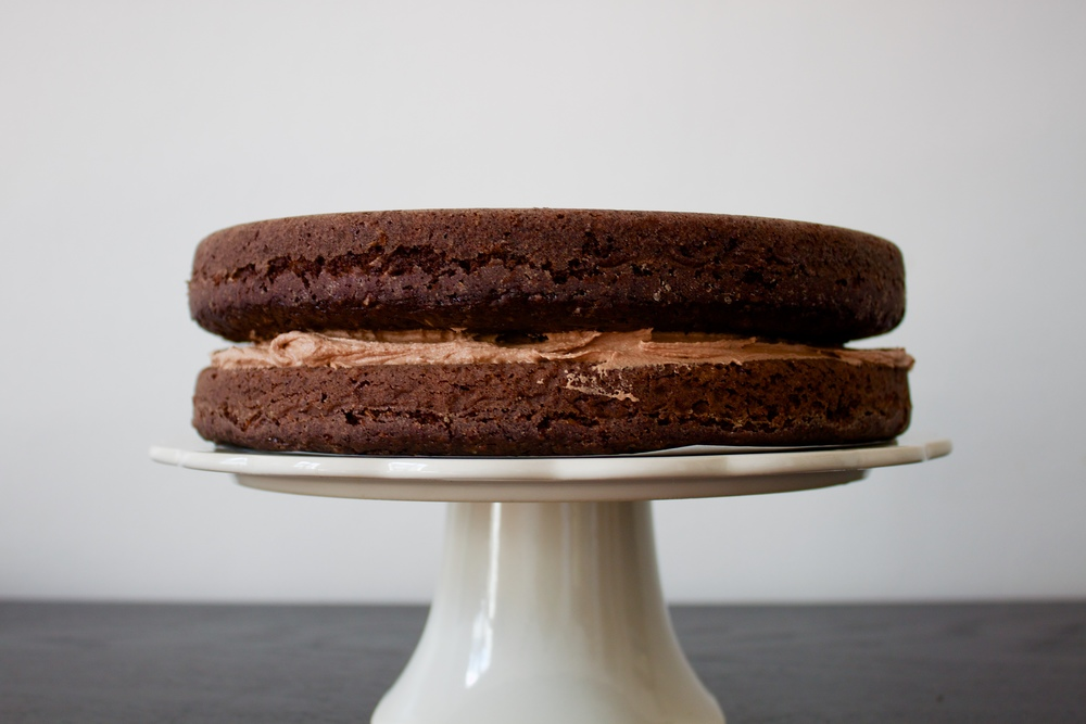 vegan double chocolate coconut cake