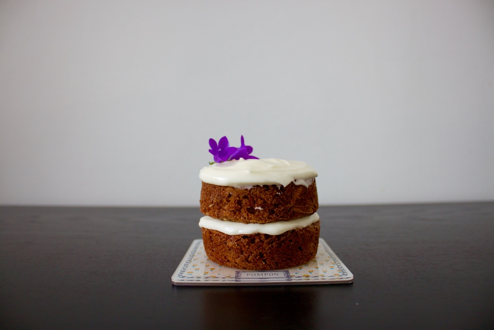 mini vegan carrot cake