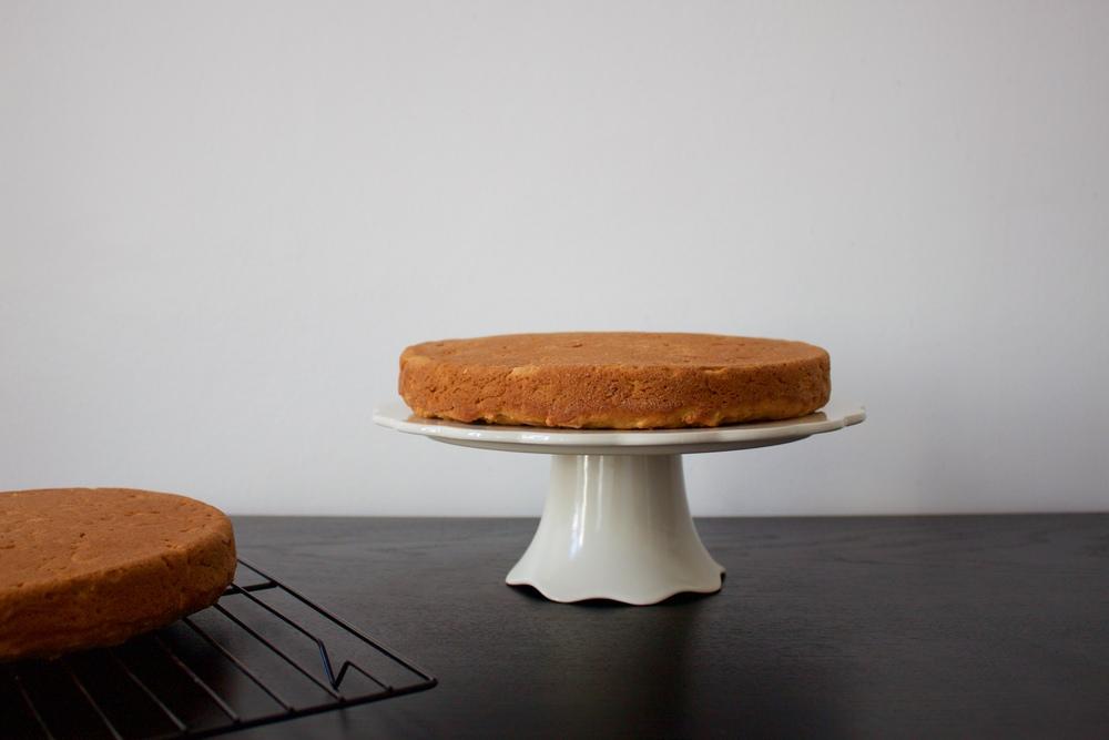 vegan sweet potato and apple layer cake
