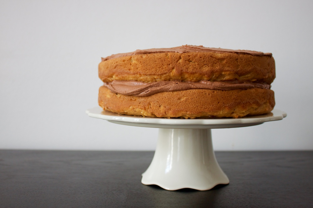 vegan sweet potato and apple layer cake
