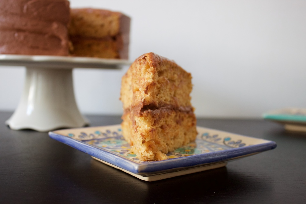vegan sweet potato and apple cake