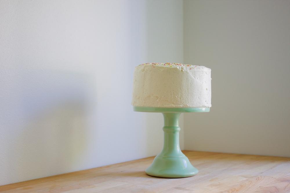 vegan double lemon cake