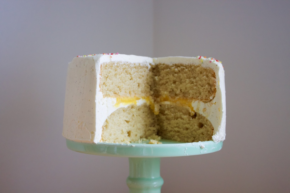 vegan double lemon cake