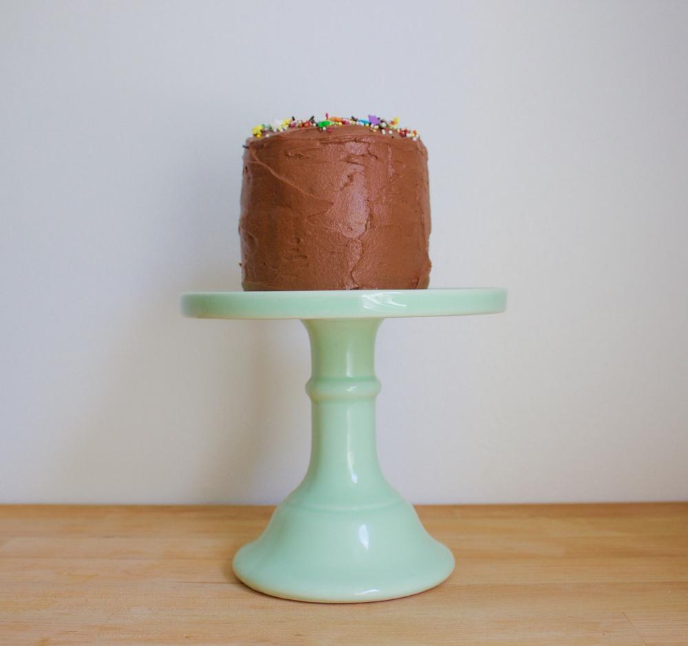 vegan coconut birthday cake