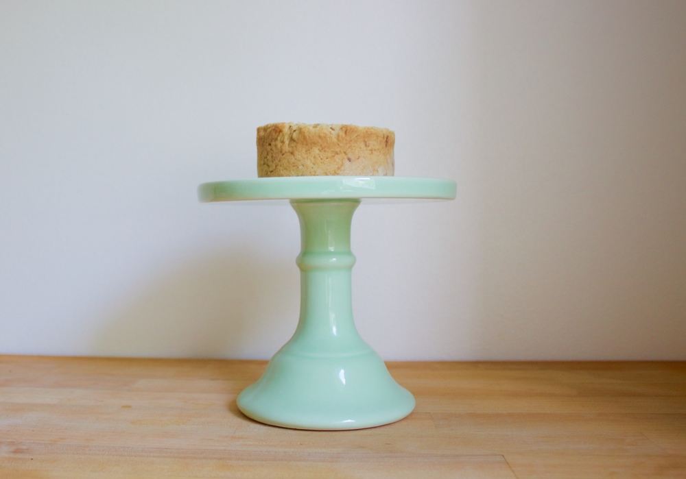 vegan mini coconut birthday cake