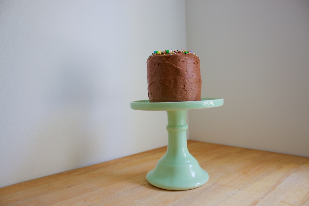 mini vegan coconut birthday cake