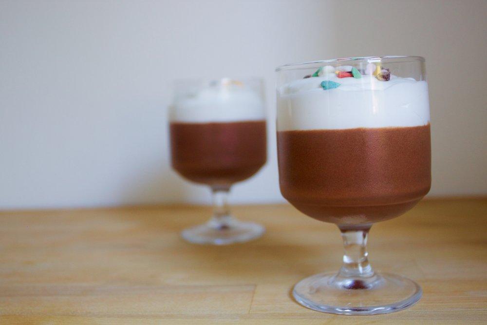 vegan chocolate mousse with coconut cream
