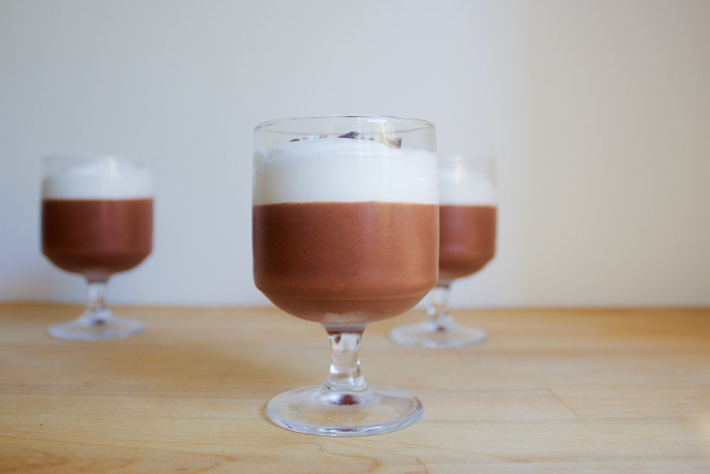 vegan chocolate mousse with coconut cream