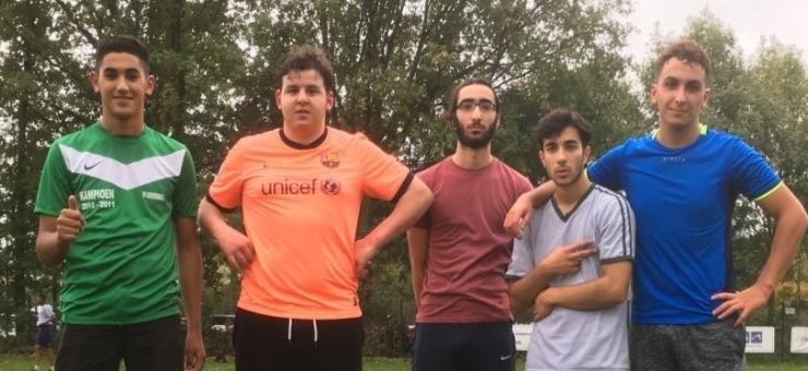 Omar, Abdelilah, Yunus, Ibrahim en Mounir