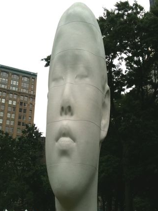 Echo sculpture by artist Jaume Plensa