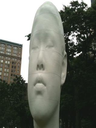Echo sculpture by artist Jaume Plensa