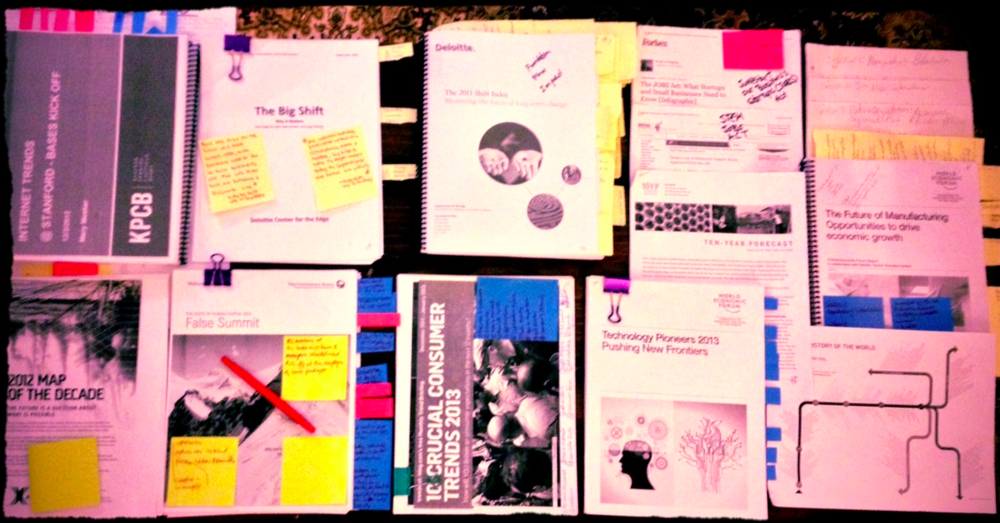 For bigger studies, I admit, I like to start with paper before digitizing my notes...