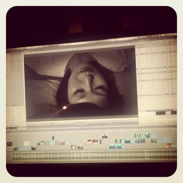 Editing more of the Deerhoof music video tonight (Taken with  instagram )