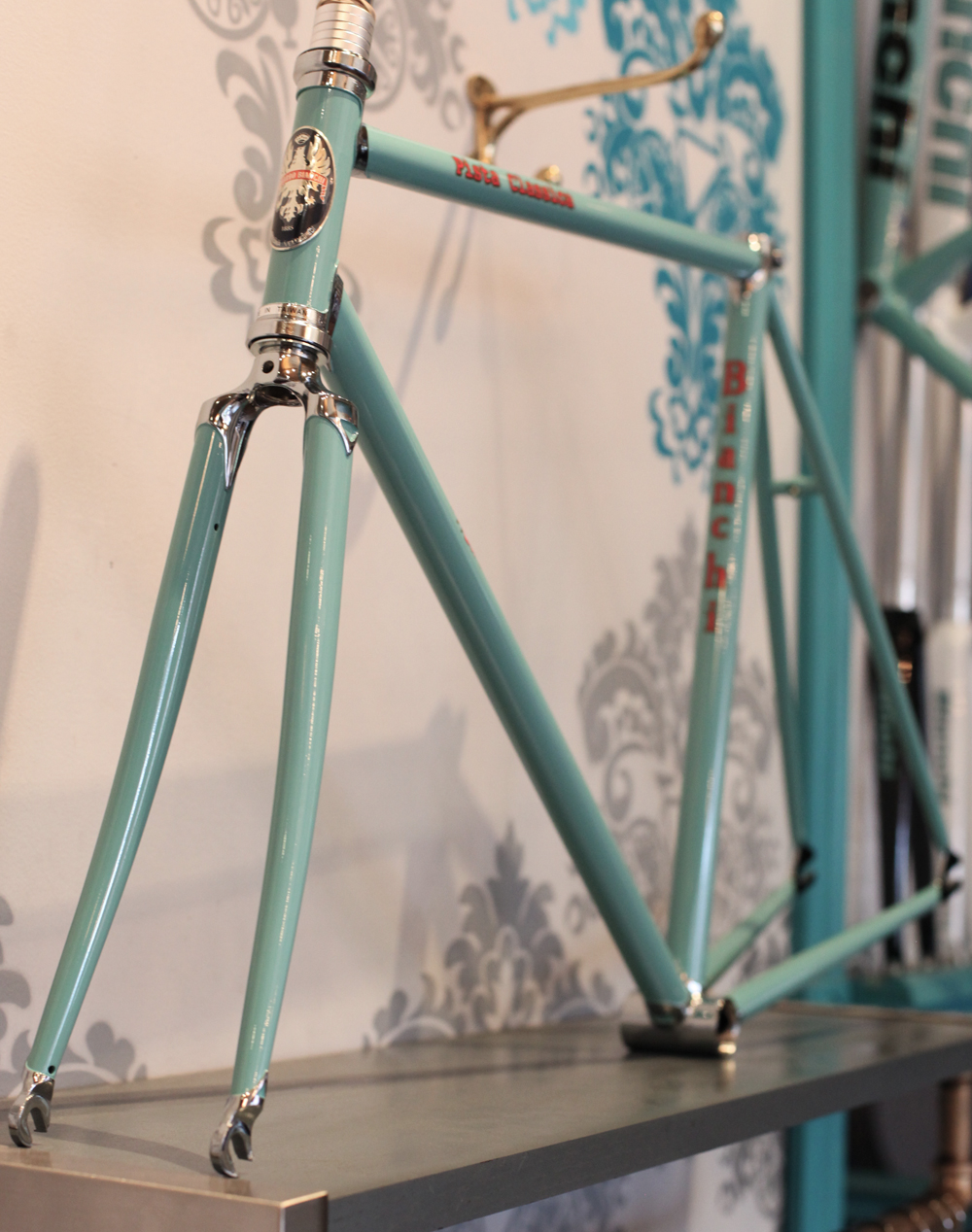 superbbicycle :     Bianchi Pista Classica Lugged Celeste frames in stock!