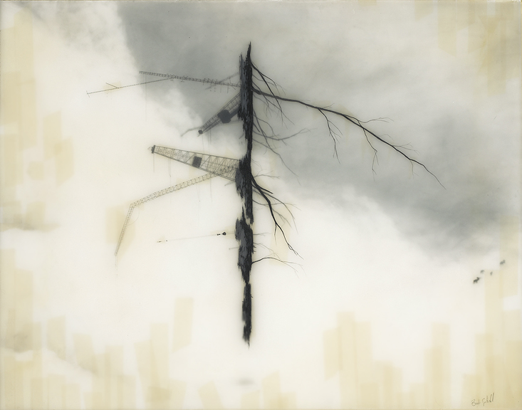 """Tendril"" 16 x 24 in. mixed media from artist  Brooks Salzwedel . Wow."