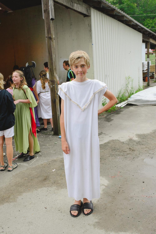 Karsten in his toga.