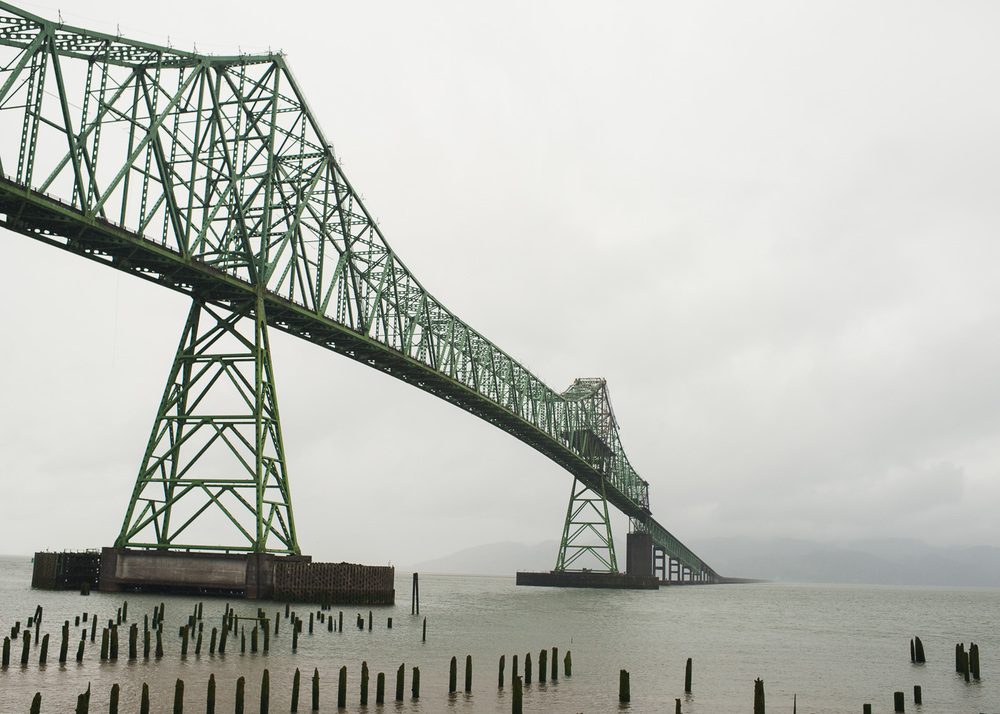 The weather turned on Day 2 of our trip. Here we are leaving Astoria and heading to Long Beach, Washington.