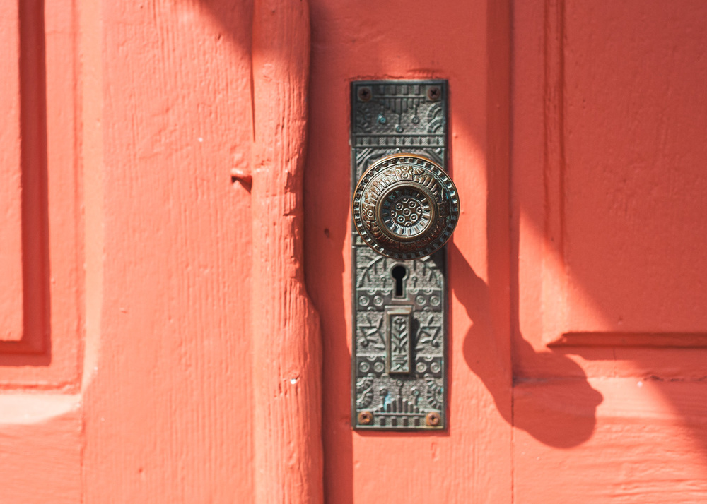 Detail of the church door knob.