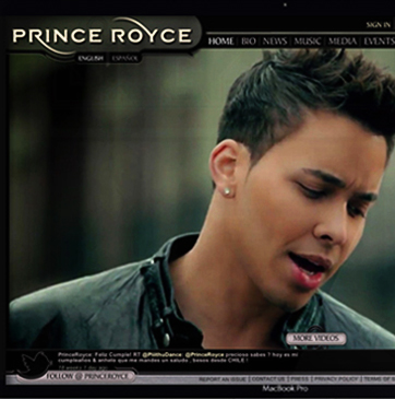 Prince Royce Website