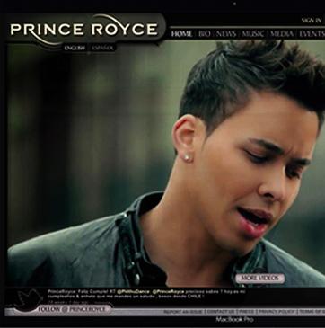 Prince Royce Webste