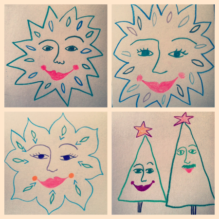 snowflake faces