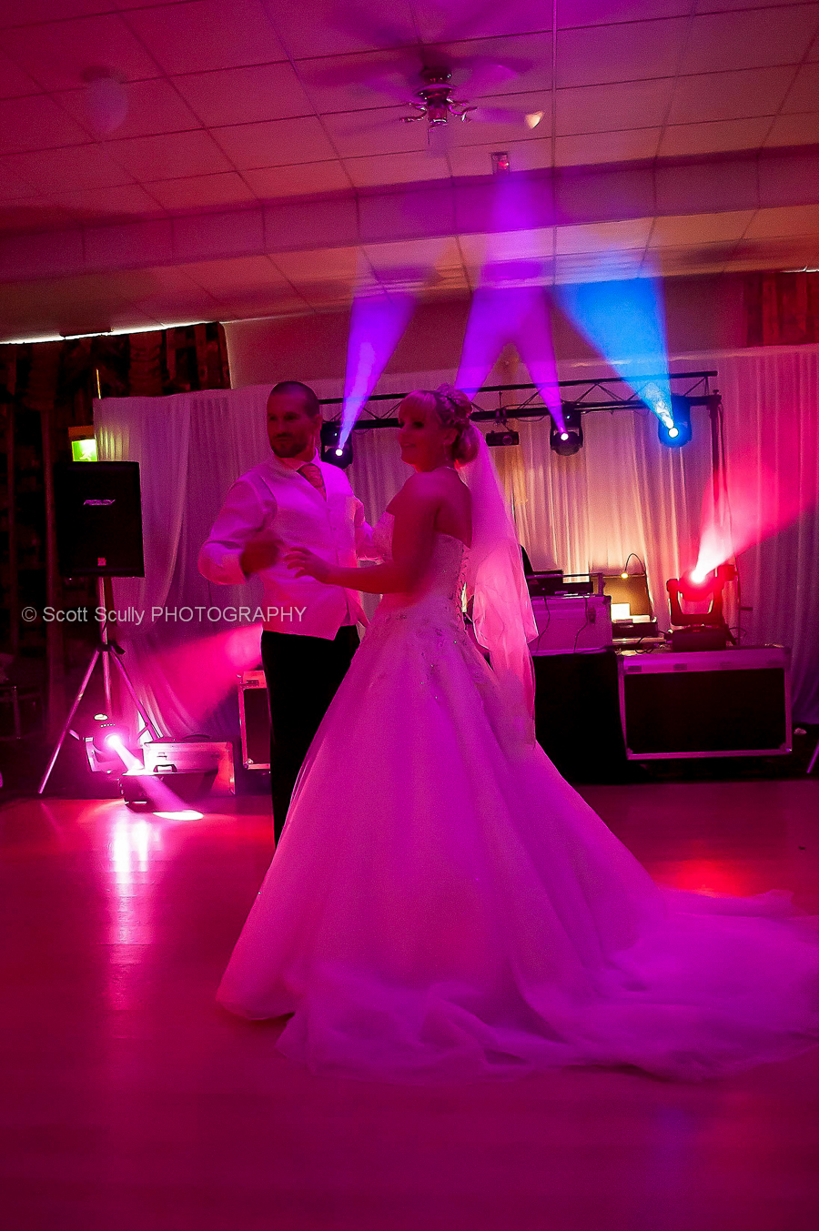 The couple enjoying a traditional first dance